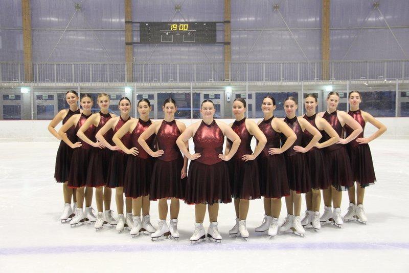 équipe de patinage synchronisé United Blades du club des patineurs de Neuchâtel sport